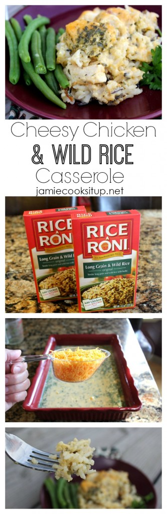 Cheesy Chicken and Wild Rice Casserole I Jamie Cooks It Up!