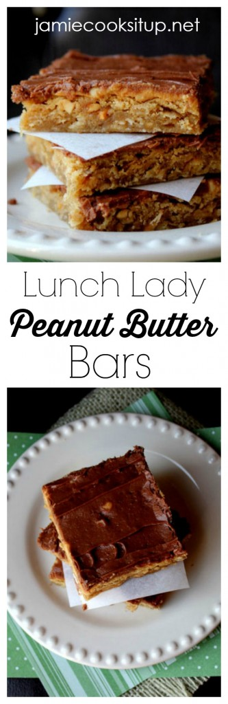 Lunch Lady Peanut Butter Bars at Jamie Cooks It Up!