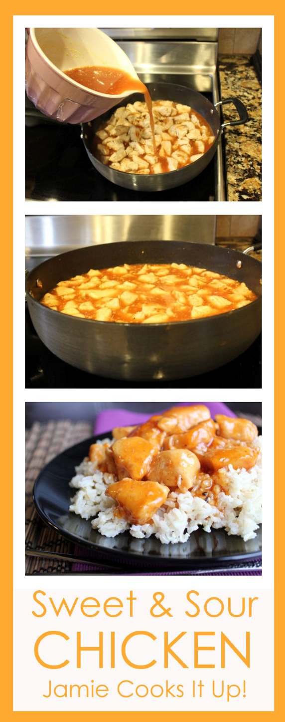 Sweet and Sour Chicken from Jamie Cooks It Up!