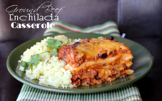 ground beef enchilada casserole
