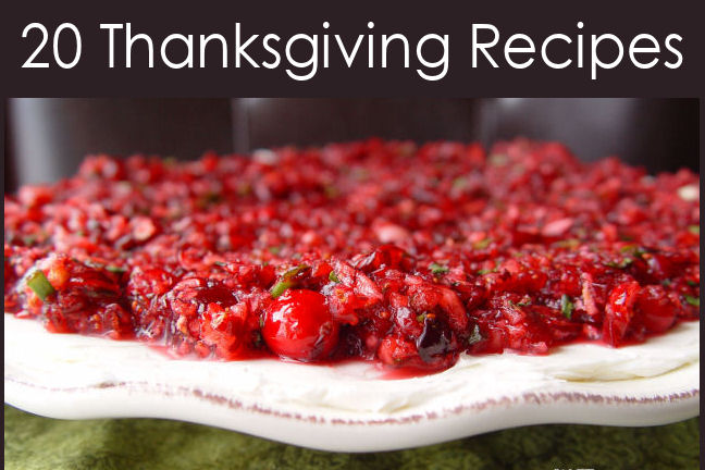 20 Thanksgiving Recipes for you!