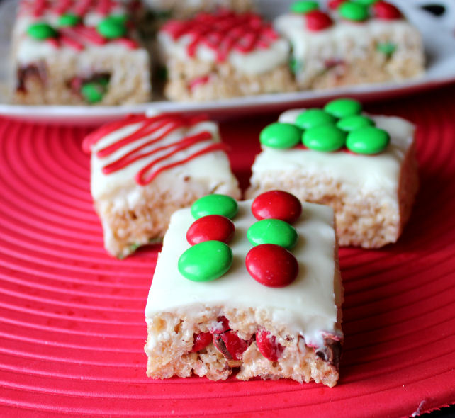 cute christmas rice krispie treats print recipe print recipe with picture