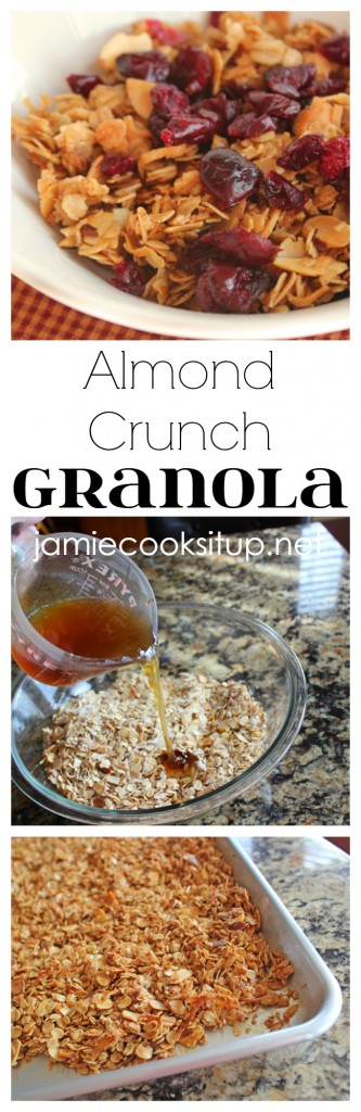 Almond Crunch Granola from Jamie Cooks It Up!