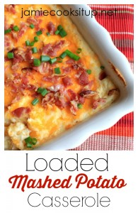 Loaded Mashed Potato Casserole from Jamie Cooks It Up!