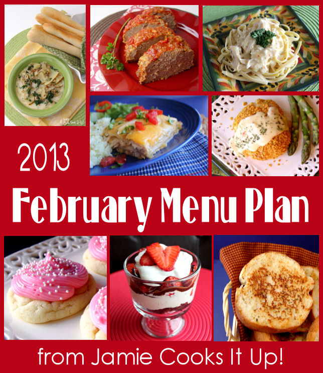 February Menu Plan 2013