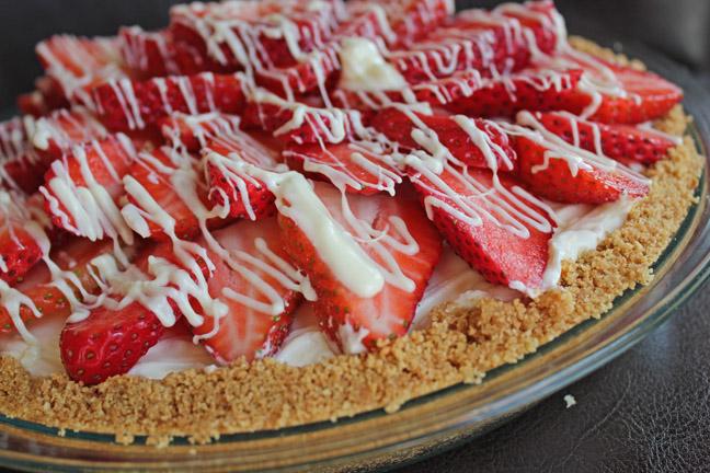 Strawberry White Chocolate Pie
