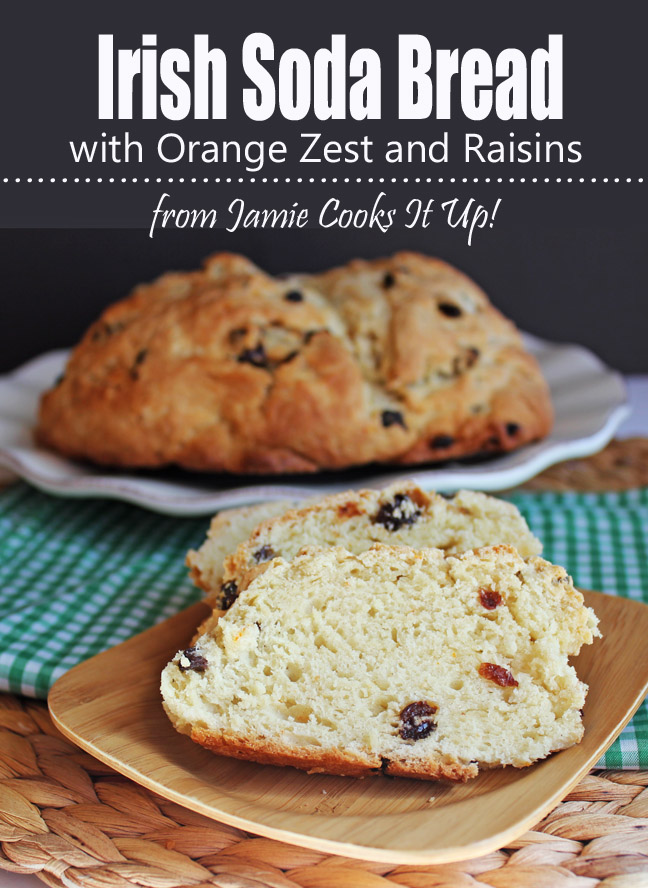 Irish Soda Bread with Orange Zest and Raisins