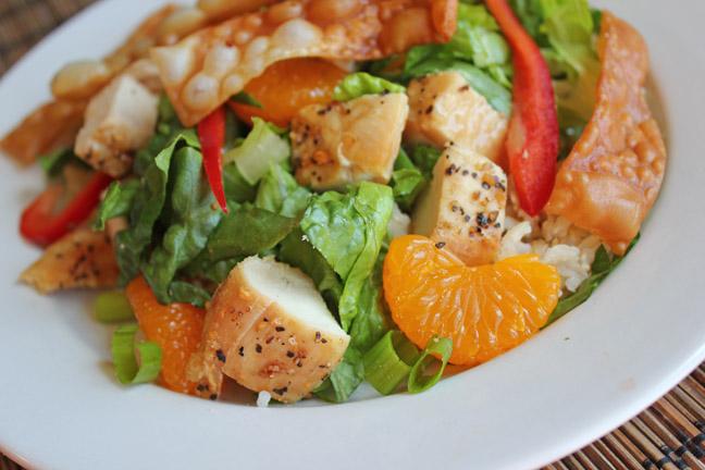 Crispy Won Ton and Chicken Asian Salad