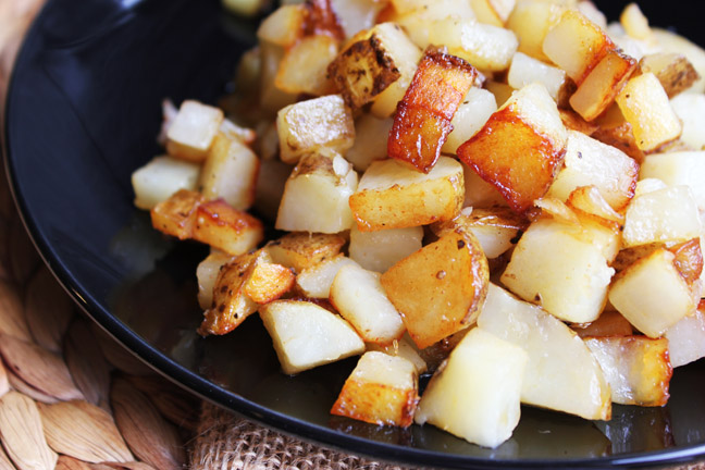 how to cook potatoes in a skillet