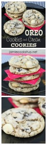 Oreo Cookies and Cream Cookies from Jamie Cooks It Up!