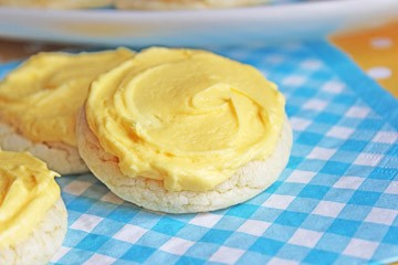 Soft Frosted Lemon Cookies Side Bar