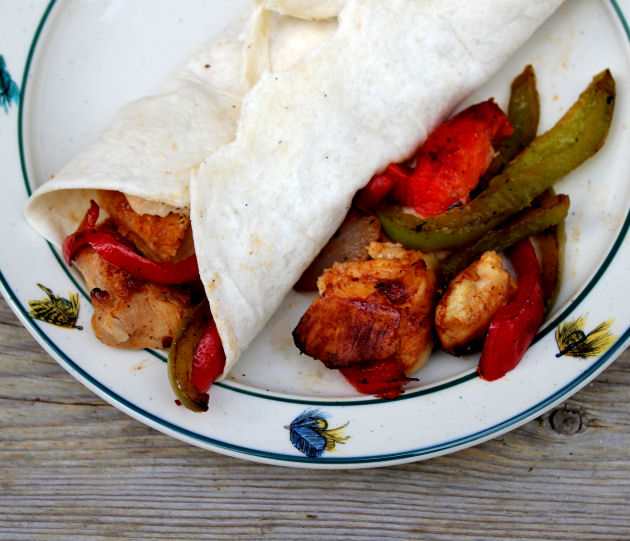 Chicken Fajitas from Jamie Cooks It Up