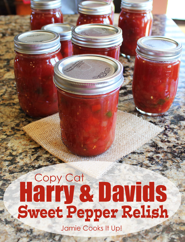 Copy Cat Harry and Davids Sweet Pepper Relish from Jamie Cooks It Up!