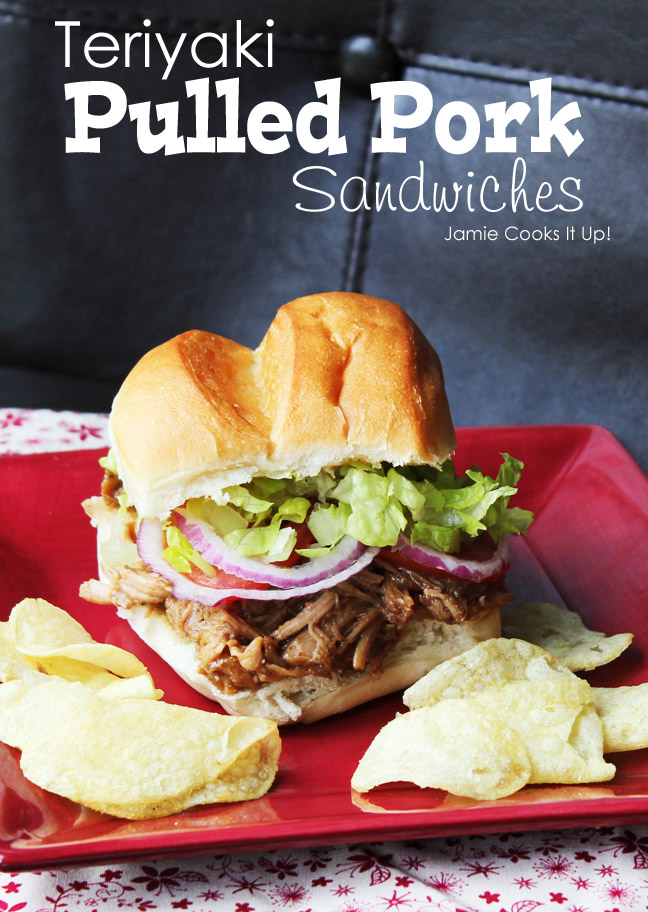 Teriyaki Pulled Pork Sandwiches from Jamie Cooks It Up!