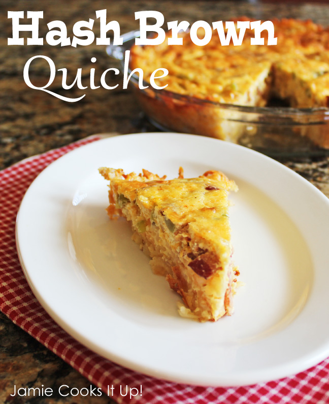 Hash Brown Quiche from Jamie Cooks It Up!