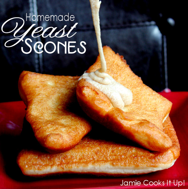 Homemade Yeast Scones from Jamie Cooks It Up
