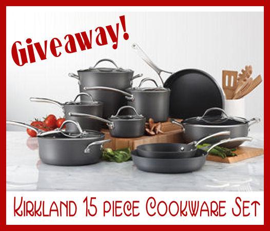 GIVEAWAY! 15 Piece Kirkland Cookware Set (Pots and Pans, man)