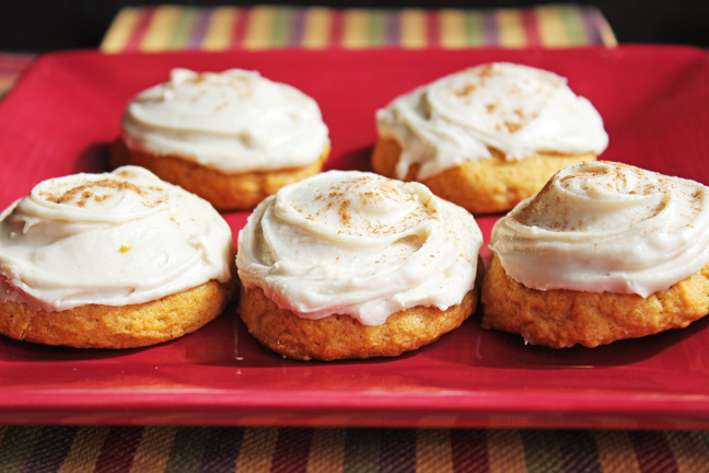 Melt In Your Mouth Soft Frosted Pumpkin Cookies