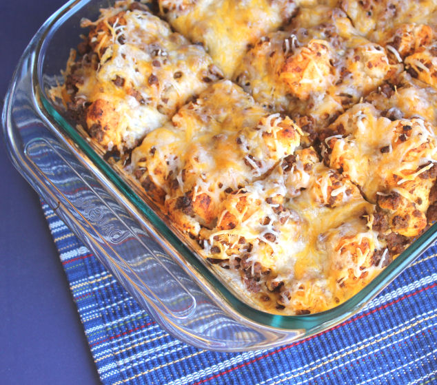 Puffy Taco Casserole from Jamie Cooks It Up!