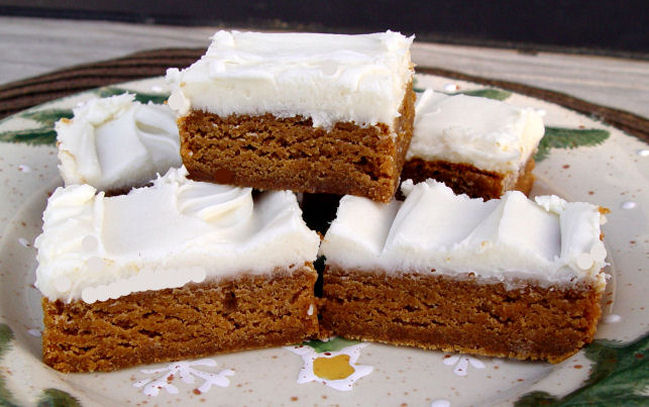 Chewy Gingerbread Bars from Jamie Cooks It Up!
