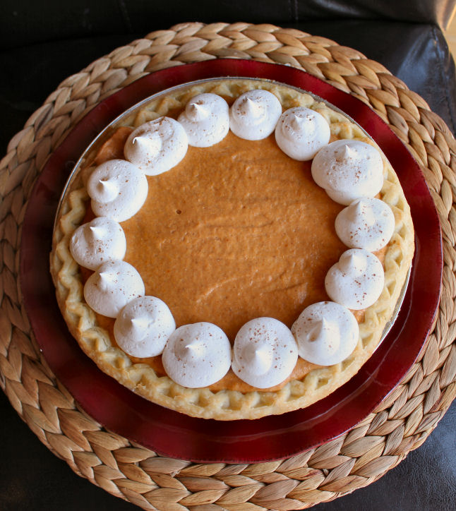 Creamy Pumpkin Chiffon Pie from Jamie Cooks It Up!