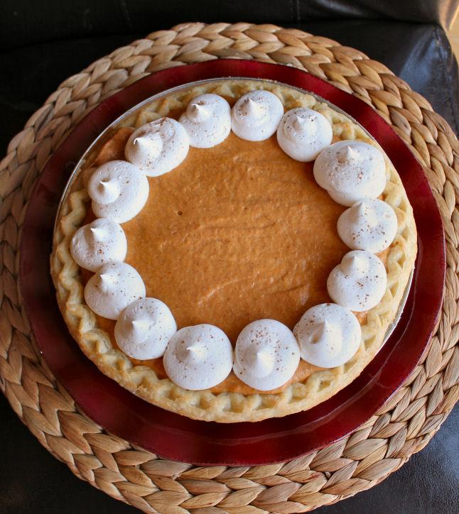 Creamy Pumpkin Chiffon Pie from Jamie Cooks It Up!