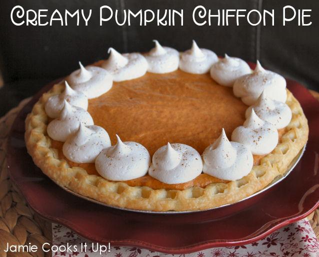 Creamy Pumpkin Chiffon Pie from Jamie Cooks It Up