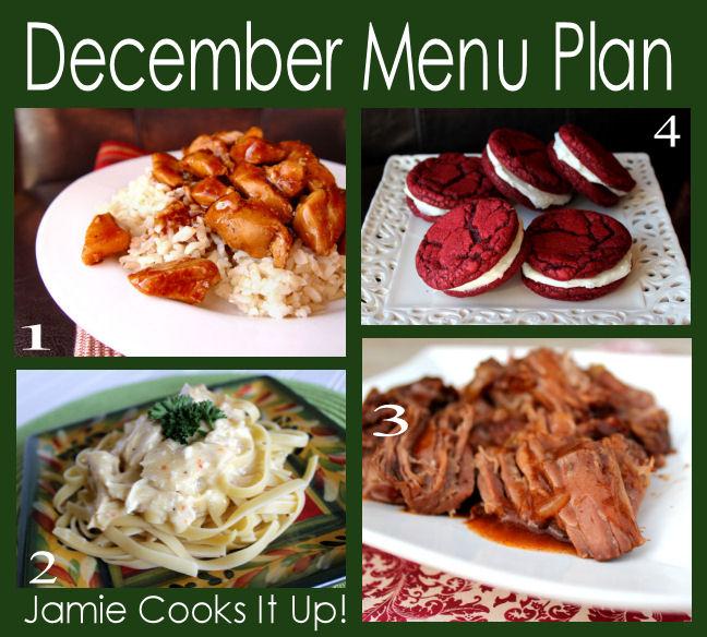 December Menu Plan 2013