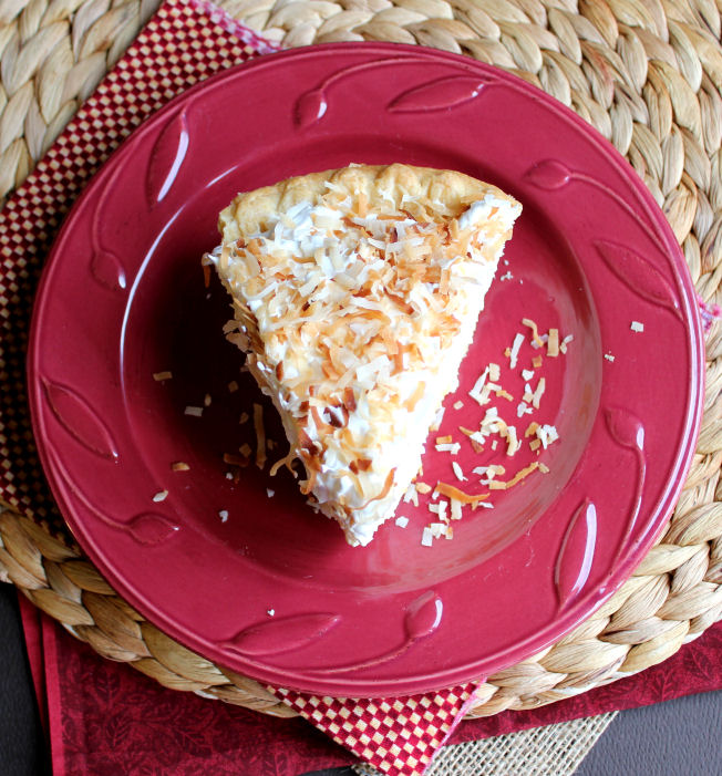 Coconut Cream Pie from Jamie Cooks It Up!