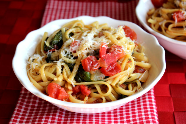 One Pot Italian Noodles from Jamie Cooks It Up