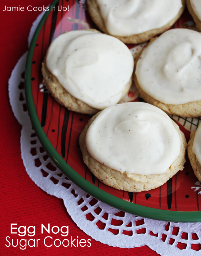 Egg Nog Sugar Cookies from Jamie Cooks It Up!