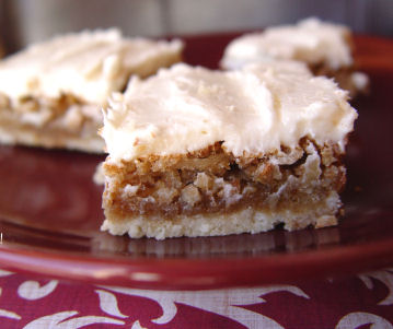 Walnut Bars with Cream Cheese Frosting