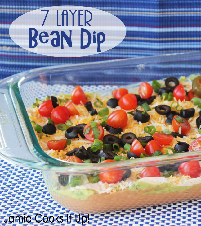 7 Layer Bean Dip from Jamie Coks It Up!