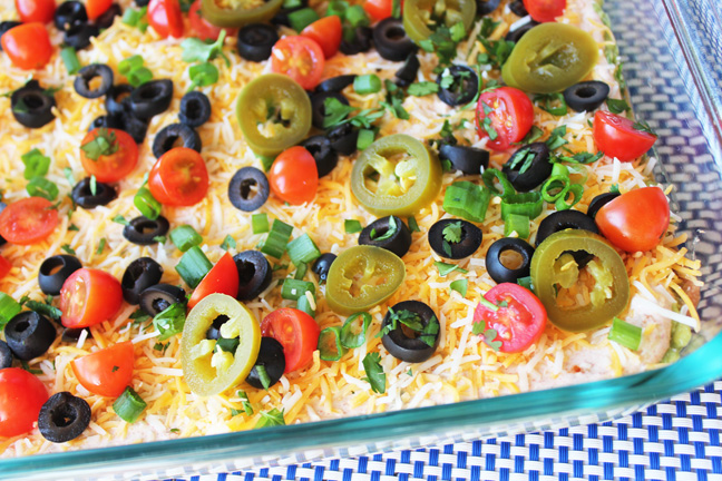 Fabulous 7 Layer Bean Dip from Jamie Cooks It Up!!