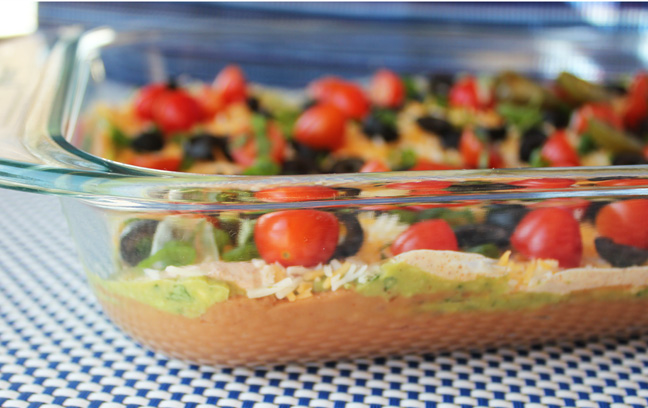 Fabulous 7 Layer Bean Dip from Jamie Cooks It Up!