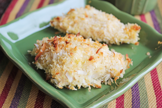 Crispy Coconut Chicken from Jamie Cooks It Up!