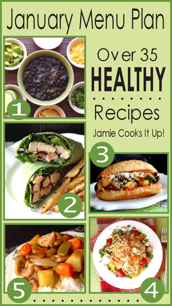 January Menu Plan 2014 (Over 35 Healthy Recipes!)