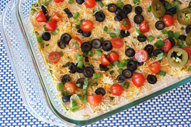Seven Layer Bean Dip from Jamie Cooks It Up!!!