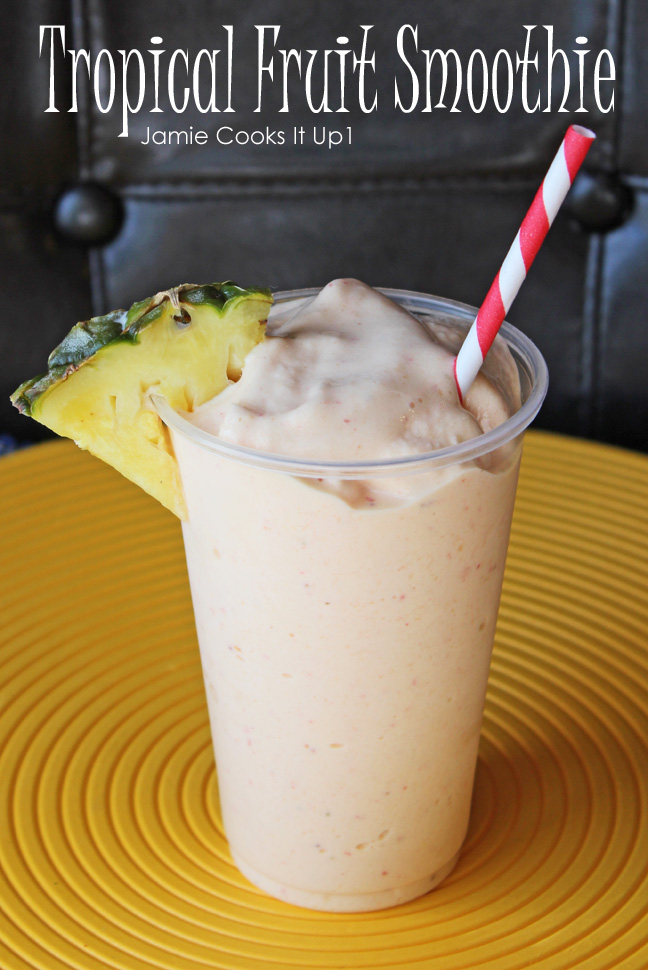 Tropical Fruit Smoothie from Jamie Cooks It Up!