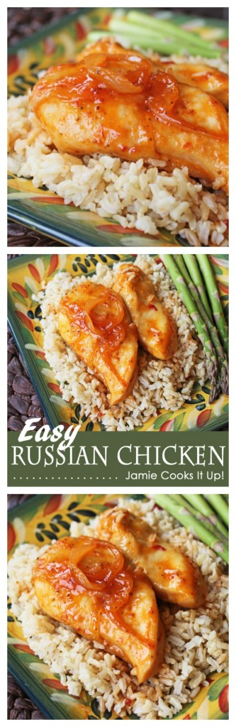 Easy Russian Chicken at Jamie Cooks It Up!