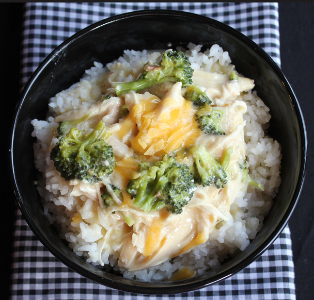Creamy Chicken Broccoli And Cheddar Over Rice Crock Pot Jamie Cooks It Up Family Favorite Food And Recipes