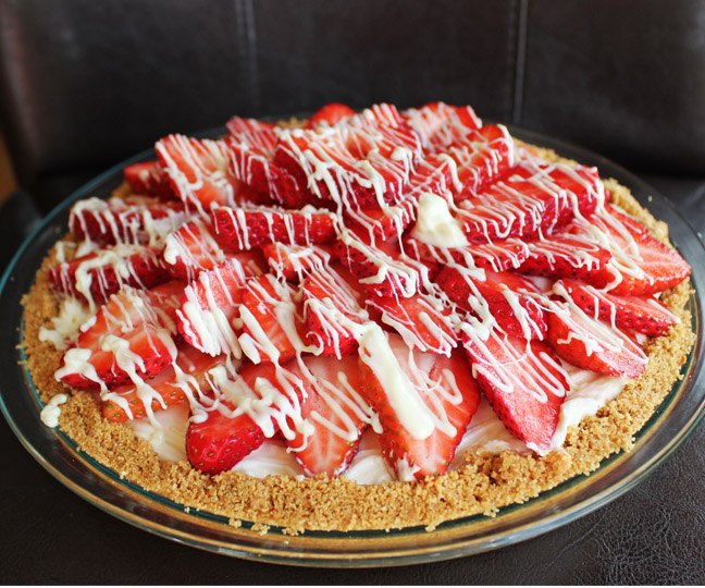 Strawberry White Chocolate Pie