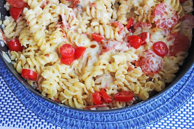 Pepperoni Pasta Skillet from Jamie Cooks It Up!
