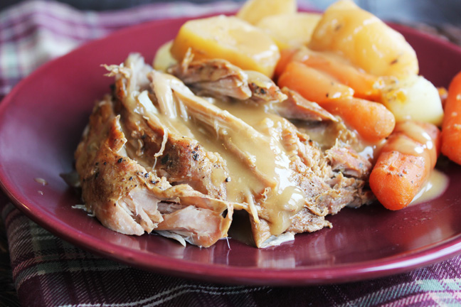 Crock Pot Pork Roast With Vegetables And Gravy Renewed Jamie