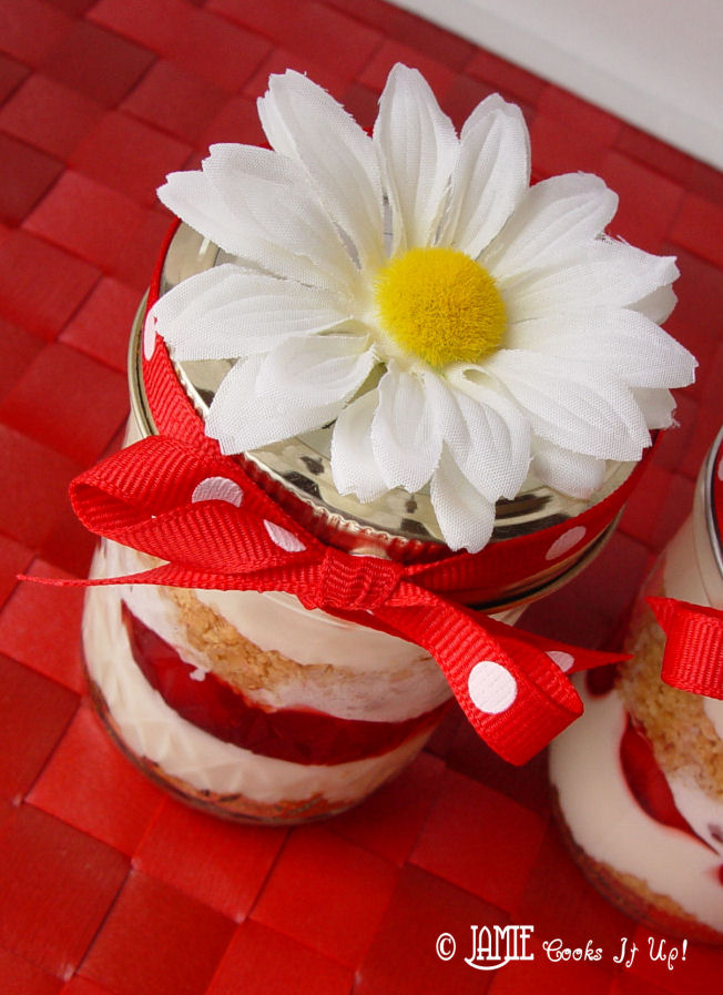 Cherry Cheesecake in a Jar