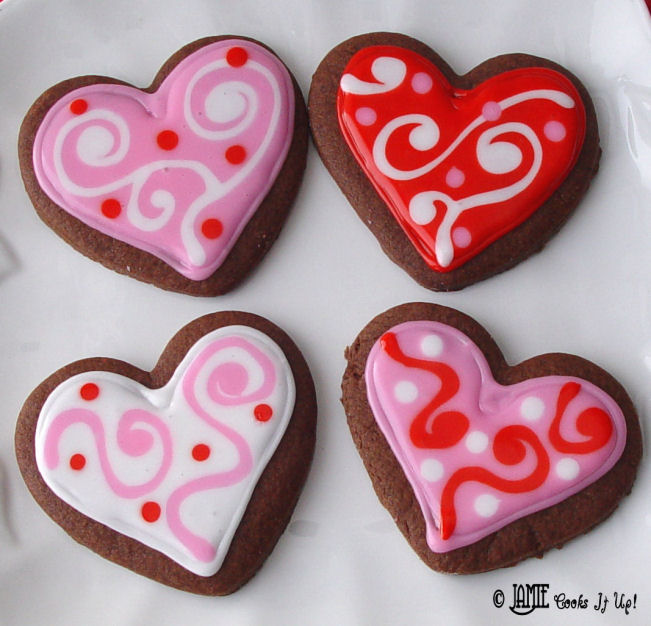 Chocolate Cutout Cookies with Glaze Icing