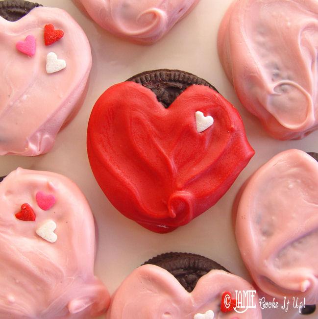 Heart Dipped Oreos