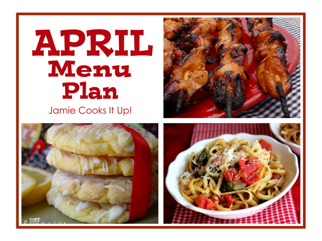 April Menu Plan 2014