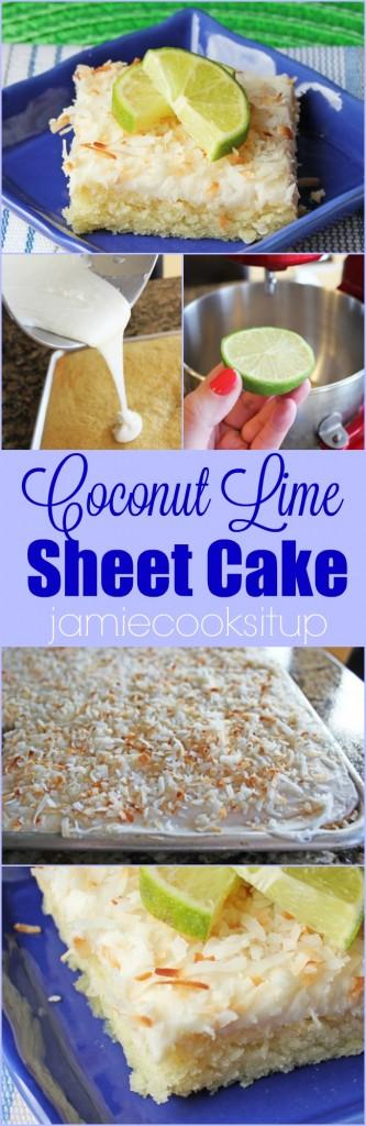 Coconut Lime Sheet Cake
