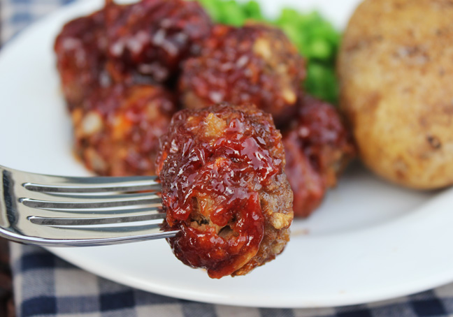Sweet and Savory BBQ Meatballs from Jamie Cooks It Up